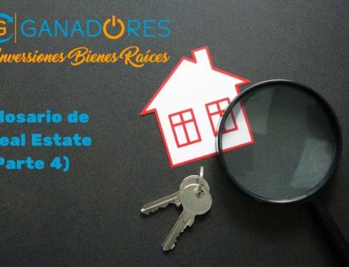 Glosario para Real Estate. Parte IV
