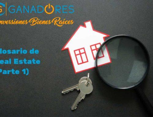 Glosario para Real Estate. Parte I