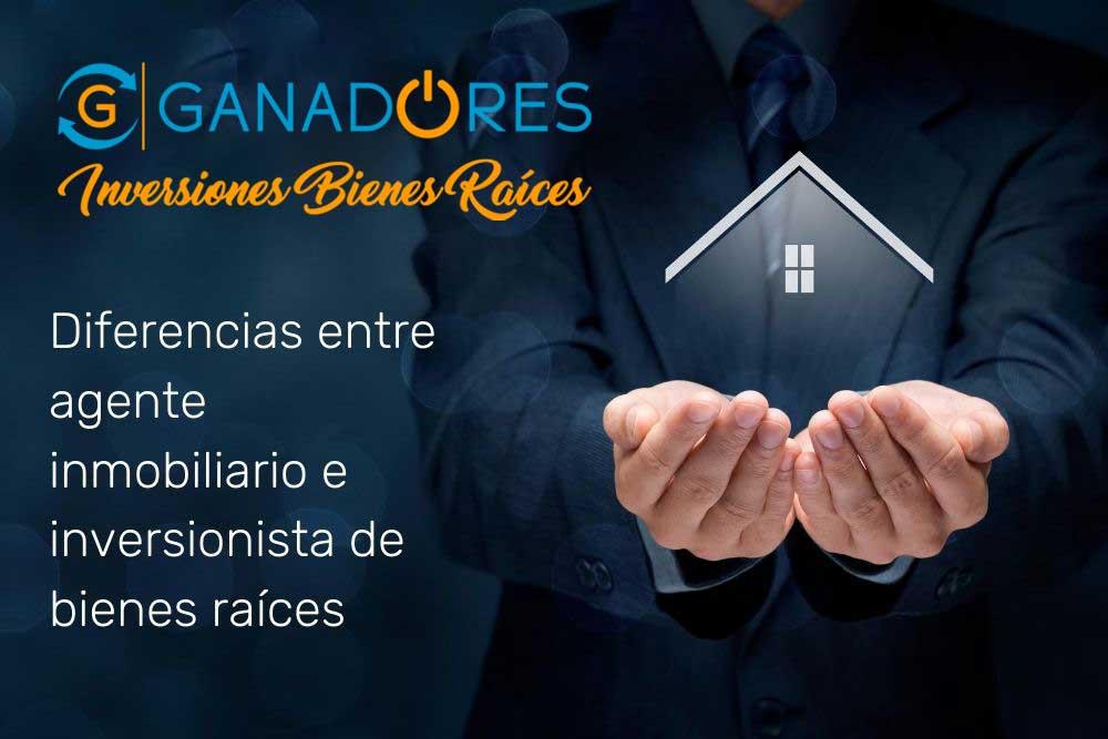 ¿Cuál es la diferencia entre agente e inversionista inmobiliario?